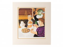 2001 Beryl Cook Dining in Paris Limited Edition Signed Print