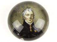 c1850 Arthur Wellesley Duke of Wellington Glass Paperweight