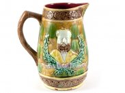 Majolica Pitcher General Ulysses S. Grant c1885
