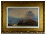 1867 Charles Edward Brittan Watercolour St Michael's Mount