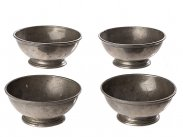 c1860 4 Pewter Bowls with Captain Hornblower HMS Lydia
