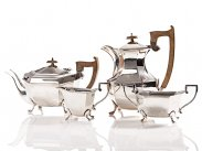 c1935 Sterling Silver Tea & Coffee Serving Set