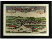 c1564 View of Cordoba Coloured Print by Georgius Hoefnagel