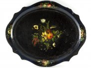 c1880 Large Victorian Lacquered Papier Mache Tray