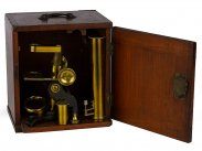 c1860 Cased Society of the Arts Pattern Microscope of London
