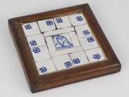 c1700 English Delft Blue & White Boxing Fight Tiles