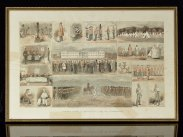 c1860 Framed Print Scenes From A Soldier's Life At Aldershot