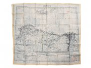 WWII British RAF Silk Escape Map of North Africa Cyrenaica