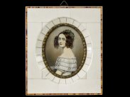 After Joseph Steiler Miniature Portrait Alexandra of Bavaria