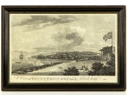 c1755 View of Mount Edgcumbe from the Block House Plymouth Print