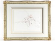 c1980 Gordon King Original Signed Drawing Study of Serena