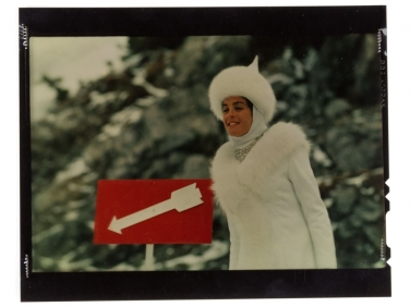 "Original 4×5 Kodachrome of Eleanor Bron 1965 Movie ""Help"""