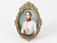 c1800 Napoleonic Miniature of Young Austrian Officer