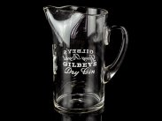 c1920 Gilbeys Dry Gin & Spey Royal Hand Blown Jug