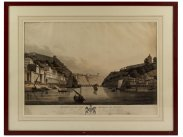 Napoleonic Arthur Wellesley Print of Oporto Bridge of Boats 1813