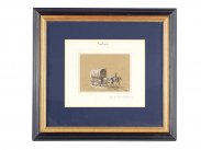 Jacques Francois Swebach Framed Watercolour Horse and Cart