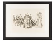 1902 Edward VII Coronation by Byam Shaw of Queen Alexandra