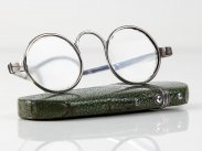 c1800 Georgian Silver Reading Glasses in Shagreen Case