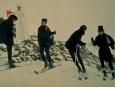 "Original 4×5 Kodachrome of The Beatles Skiing 1965 Movie ""Help"""