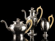c1825 Frankfurt Silver Empire Style Tea & Coffee Set