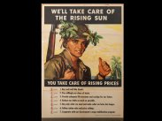 WWII USA We'll Take Care of the Rising Sun Poster
