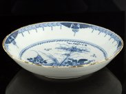 c1750 London Delft Blue and White Chinese Style Fruit Dish