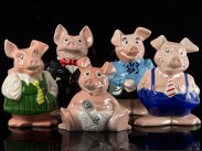 Natwest 1980's Wade Pigs Money Box Set