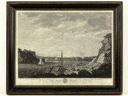 1786 View of Marine Barracks at Stonehouse Plymouth Large Print