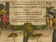 c1690 John Ogilby Part Two Road London to Lands End Map