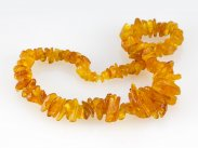 "Natural Honey Amber Graduated Necklace 27"" 125g"
