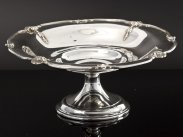 Sterling Silver Pedestal Bowl, London 1926