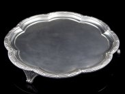 1918 Sheffield Sterling Silver Large Salver on Bracket Feet