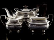 1901 Chester Sterling Silver 3 Piece Tea Service Set