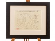 c1933 Picasso Vollard Suite XXI Signed Study Print