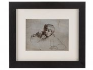 c1830 Ink Drawing of a Pub Patron by William King MD