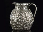 c1890 New York Black Starr & Frost Sterling Silver Cream Jug
