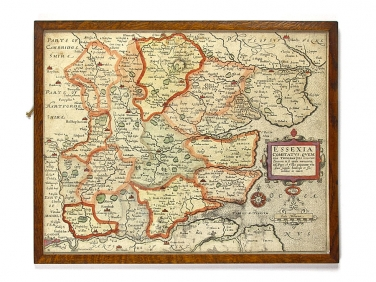 c1600 Map of Essex by John Norden - William Kip