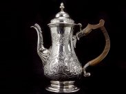 1762 George III William Cripps Sterling Silver Coffee Pot