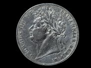 1821 George IV Silver Half Crown Light Garnish Coin