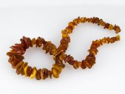 "1950s Natural Baltic Amber Necklace Polish Origin 30"" 132g"