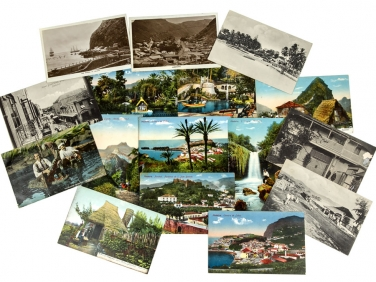 c1915 A collection of 16 Various Atlantic Islands Postcards