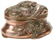 Art Nouveau Copper Jewellery Box c1915