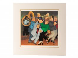 2001 Beryl Cook Signed Framed Lithograph Jiving to Jazz