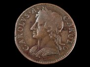 1675 British Charles II Copper Farthing