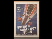 WWII British Home Front Poster Incendiary Bombs