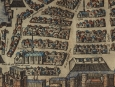 c1575 Coloured Map of La Rochelle by Braun & Hogenberg