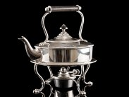 c1880 Hukin n Heath Silver Plated Spirit Kettle