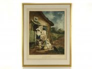 1796 Coloured Engraving No. 6 The Dram After George Morland