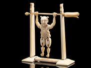 c1880 Chinese Carved Ivory Tumbling Acrobat Figure