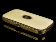 c1880 French Gilded and Ivory Spectacles Case